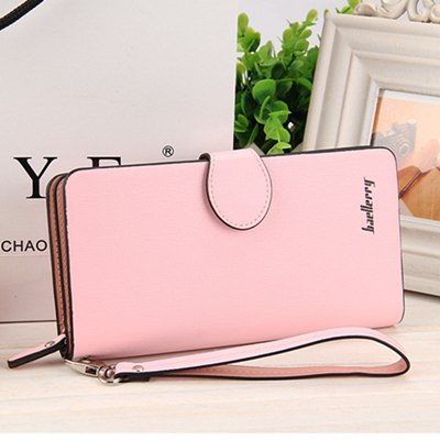 Costbuys  High Quality Women Vintage Long Zip Wallet Fashion Large Capacity Coin Purse Phone Hand Bag Passport Card Holder - 3