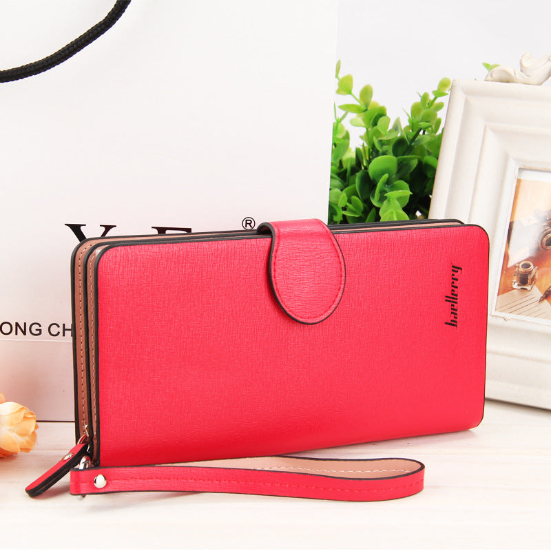 Costbuys  High Quality Women Vintage Long Zip Wallet Fashion Large Capacity Coin Purse Phone Hand Bag Passport Card Holder - 2