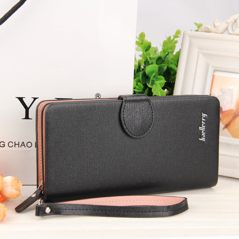 Costbuys  High Quality Women Vintage Long Zip Wallet Fashion Large Capacity Coin Purse Phone Hand Bag Passport Card Holder - 4