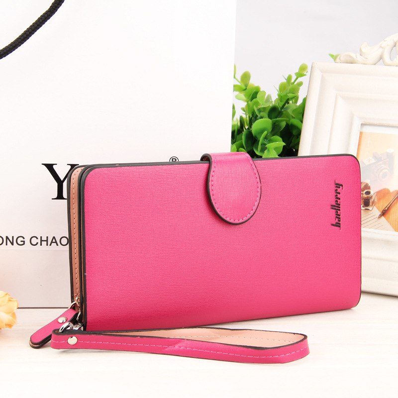 Costbuys  High Quality Women Vintage Long Zip Wallet Fashion Large Capacity Coin Purse Phone Hand Bag Passport Card Holder - 1