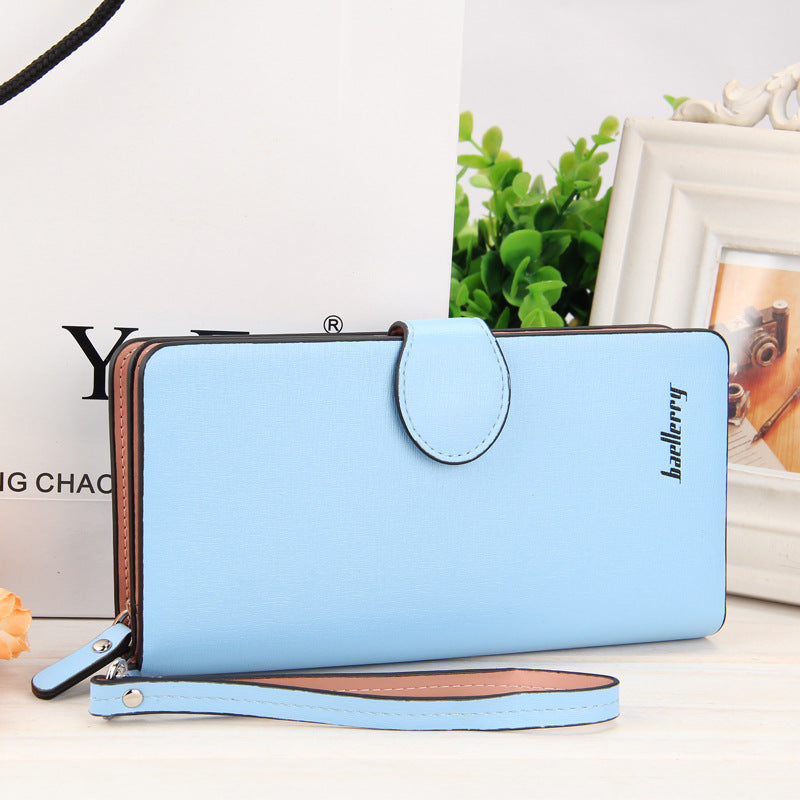 Costbuys  High Quality Women Vintage Long Zip Wallet Fashion Large Capacity Coin Purse Phone Hand Bag Passport Card Holder - 5