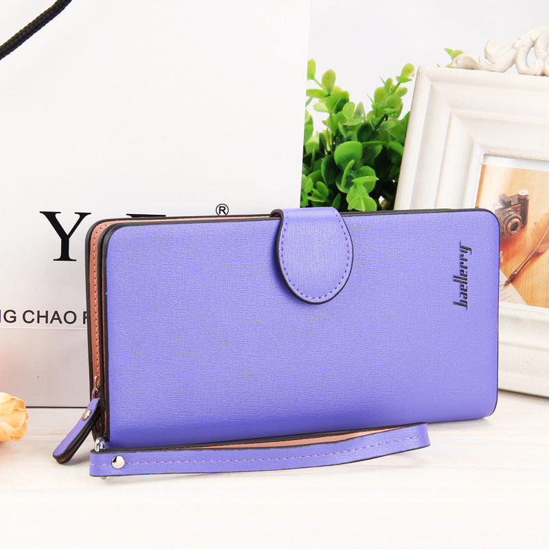 Costbuys  High Quality Women Vintage Long Zip Wallet Fashion Large Capacity Coin Purse Phone Hand Bag Passport Card Holder - 6