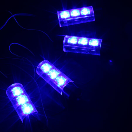 Costbuys  High Quality Car Interior Decorative Light Atmosphere Light Car Accessories 4 x 3 LED Car Styling Glow Interior Decora