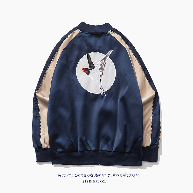High Quality Embroidery Men Women Jacket Sukajan Coat Male Fashion Casual Streetwear Hiphop Outwear