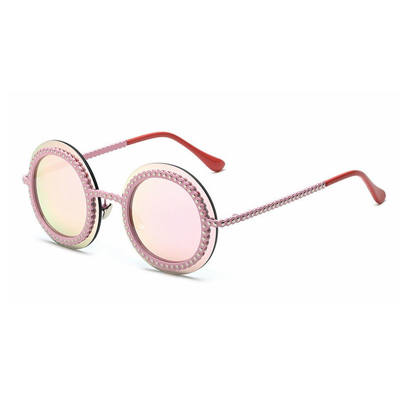 Costbuys  High Quality Fashion women sungalsses metal imitation gear Vintage Sunglasses Measly Sunglasses Cool Ladies Round Eye