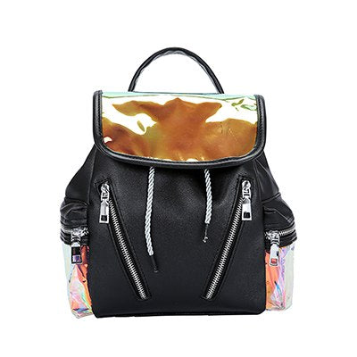 Costbuys  High Quality Pu Leather Patchwork Women Bags Female Zipper Backpack New Fashion Shoulder School Bags For Teenage Girls