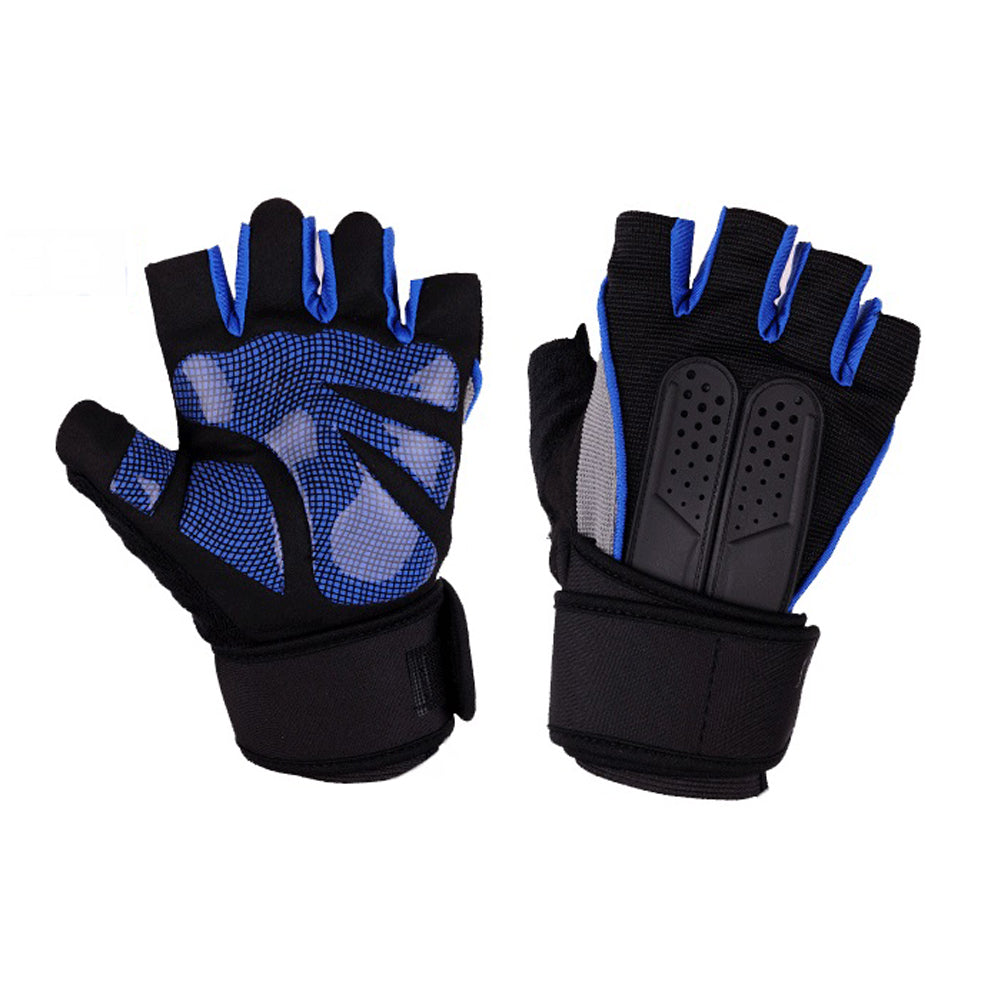 Costbuys  High Quality Sports Gym Gloves Wrist Weights Fitness Men Gloves Half Finger Breathable Anti-skid Silica Women Gloves -