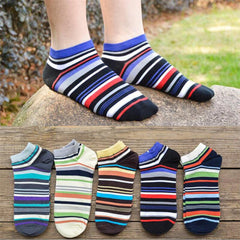 High Quality men's cotton socks Spring Summer and Autumn Striped Pattern socks men's fashion short sock
