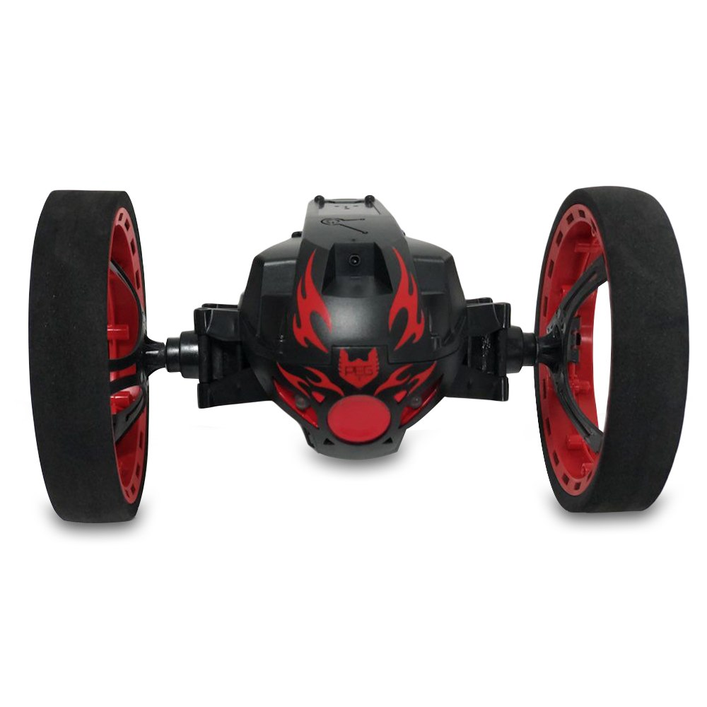 Costbuys  High Speed RC Car Bounce Jumping Car Cars Remote Control Toys Flexible Wheels Rotation Music LED Light Stunt Car Kids