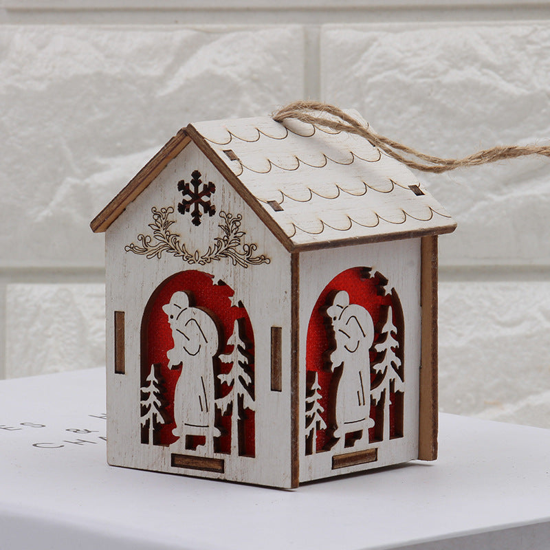 Costbuys  Holiday Lighting Wooden Christmas Decorations Home with Led Christmas Candle for Christmas Wood Decoration - S-Santa C