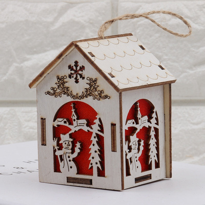 Costbuys  Holiday Lighting Wooden Christmas Decorations Home with Led Christmas Candle for Christmas Wood Decoration - S-Snowman