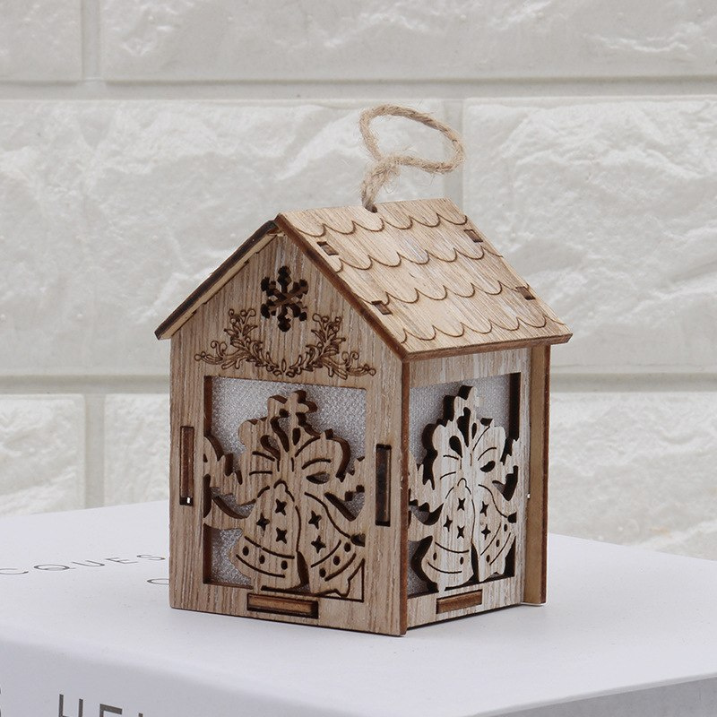 Costbuys  Holiday Lighting Wooden Christmas Decorations Home with Led Christmas Candle for Christmas Wood Decoration - S-Bell