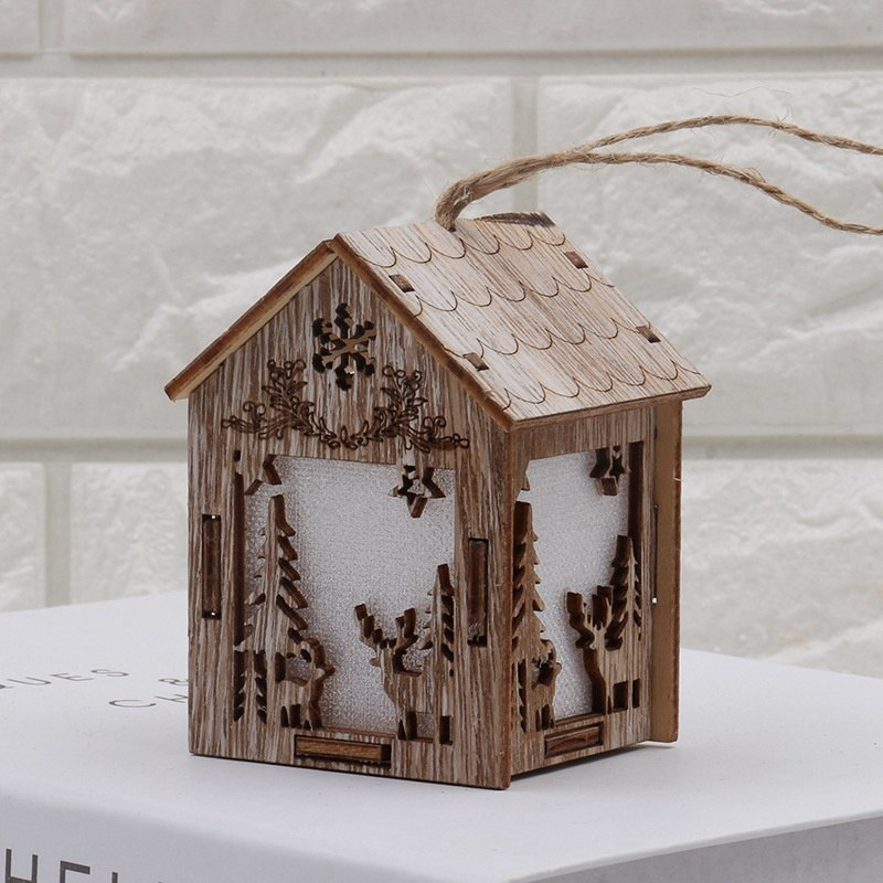 Costbuys  Holiday Lighting Wooden Christmas Decorations Home with Led Christmas Candle for Christmas Wood Decoration - S-Deer