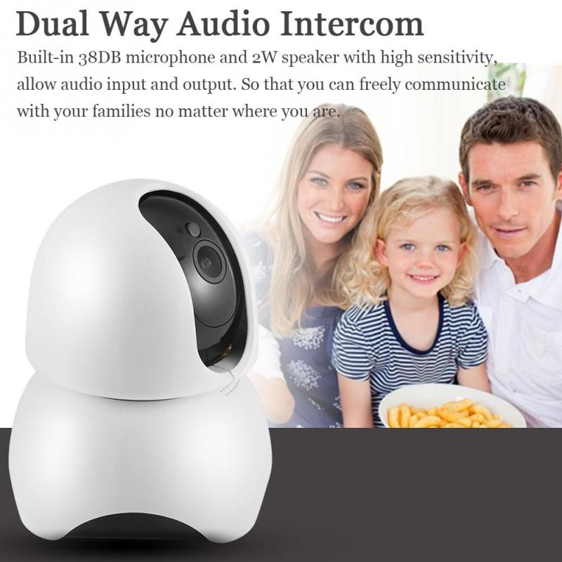 Costbuys  Home Security Baby Monitor 1080P WIFI IP Camera HD Infrared Night Vision Motion Detection P2P Dual Way Audio Intercom