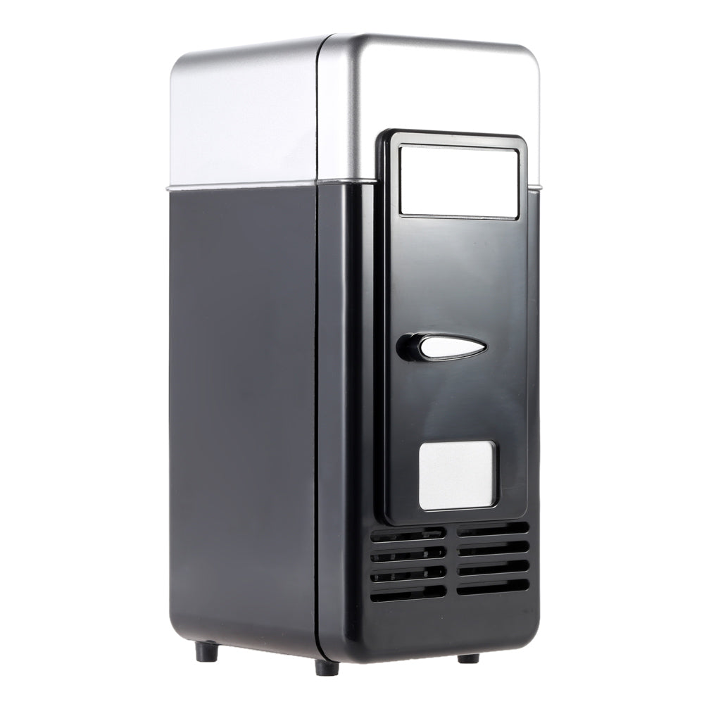 Costbuys  Portable Mini Refrigerator Fridge USB Gadget Beverage Cans Cooler Warmer Refrigerator with Internal LED Light For Home