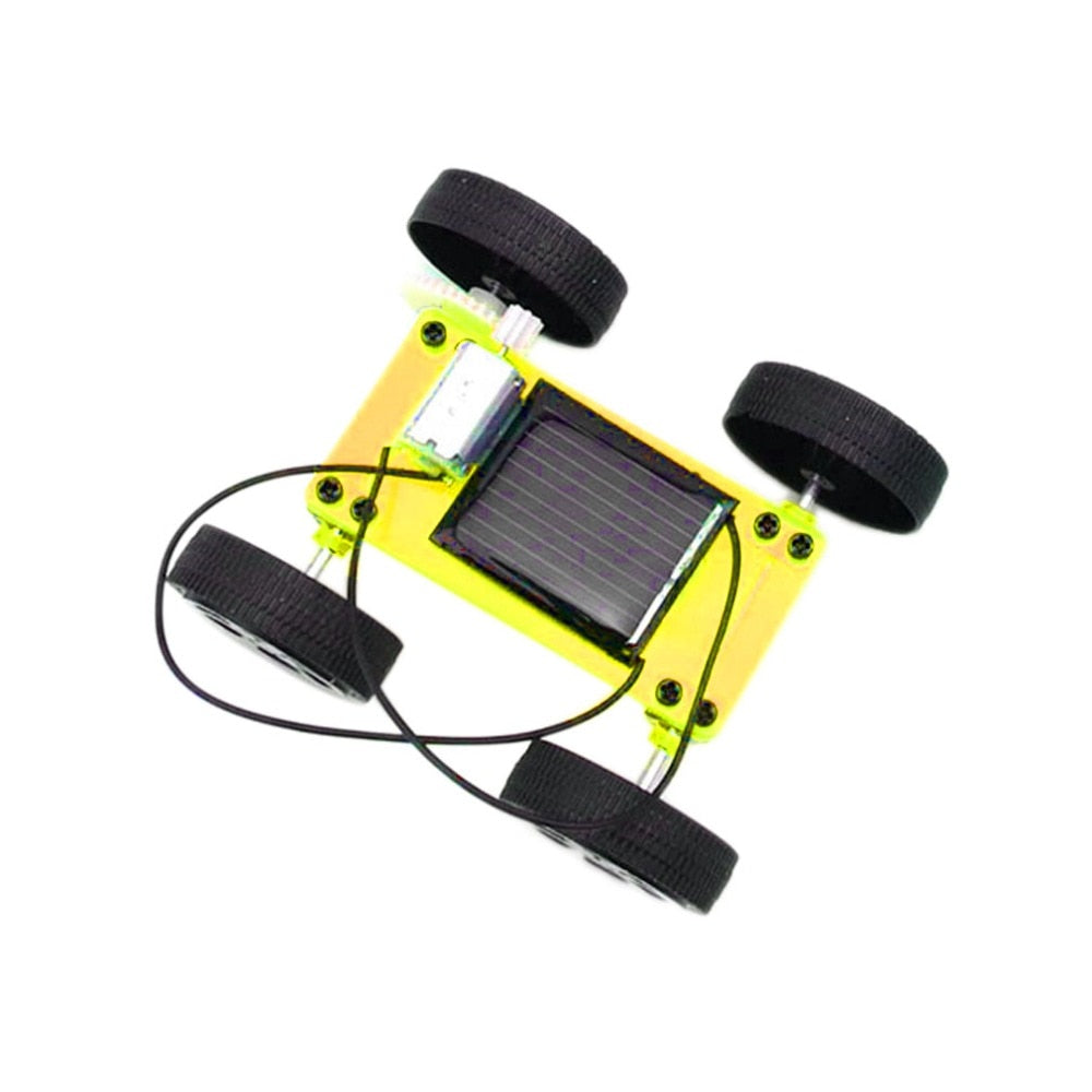 Costbuys  1pc Self assembly Mini Solar Powered DIY Car Kit Children Educational Toy Gadget Gift Brand New Sale