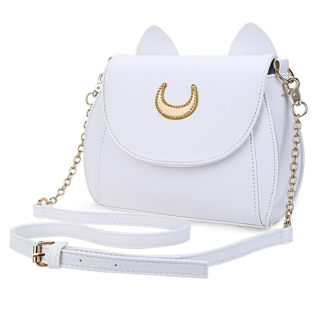Costbuys  Hot New Women's Handbag Ladies Pu Leather Bags Women Messenger Bags Cross Body Small Moon Chain Shoulder Bag Cat Cross
