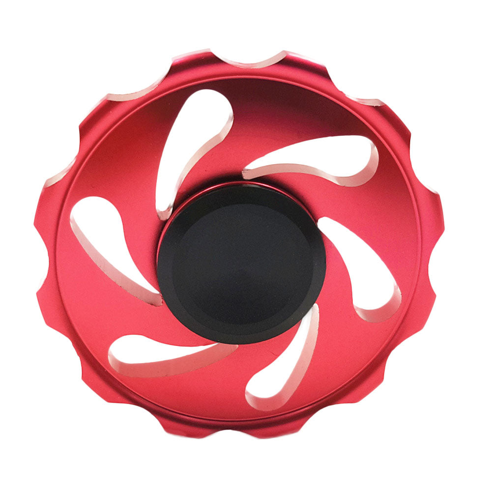 Costbuys  Round Fidget Toy Metal Stress Fire Wheel EDC Anti-Stress Hand Spinner Fidget Spinner For Autism And Antistress,Finger