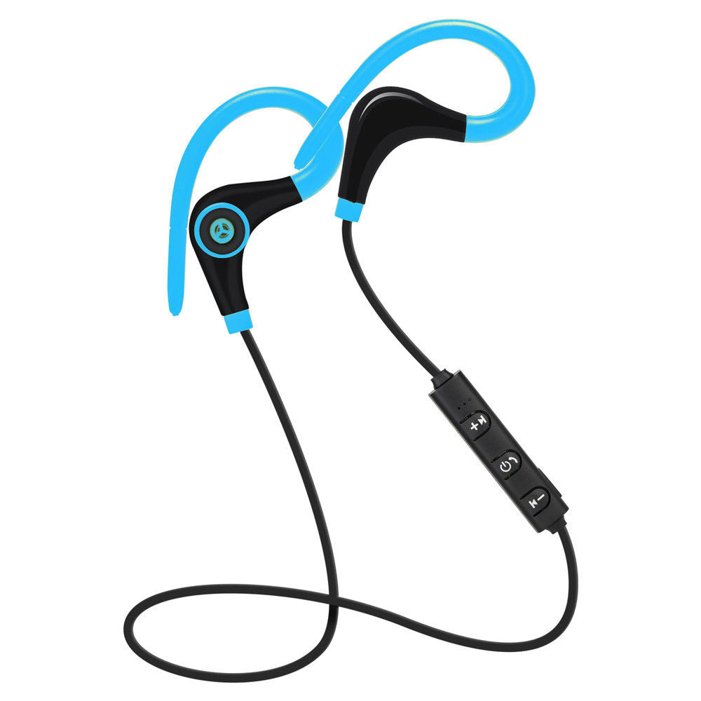 Costbuys  Hot Sale 4.1 Wireless Bluetooth Sport Earphone Hand Free Eardphone Universal For IP smartphone android phone - Blue