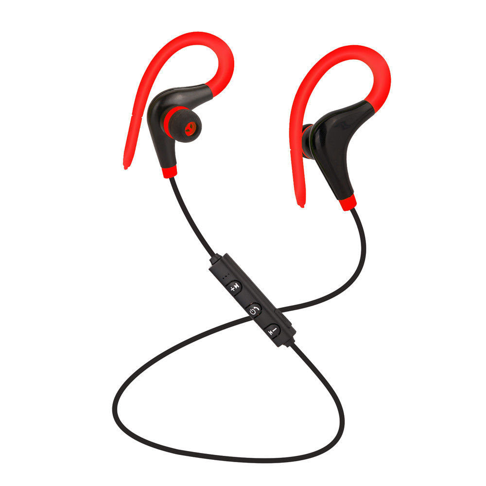 Costbuys  Hot Sale 4.1 Wireless Bluetooth Sport Earphone Hand Free Eardphone Universal For IP smartphone android phone - Red