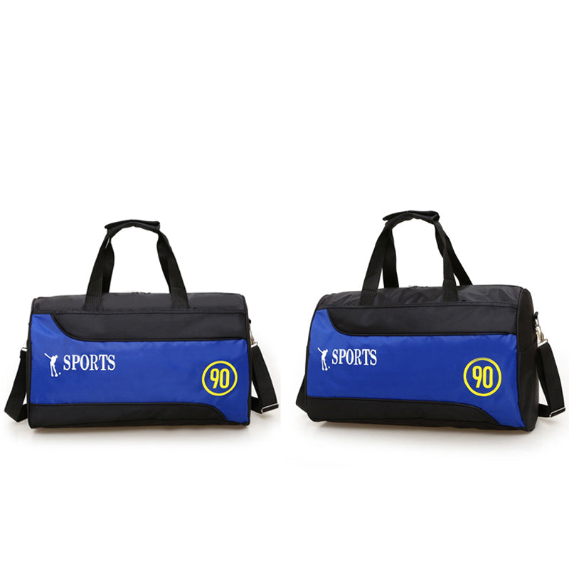 Costbuys  Nylon Basketball Training Bag Men Sports Bag Multifunctional Women Gym Bags Outdoor Portable Fitness Bags - Blue
