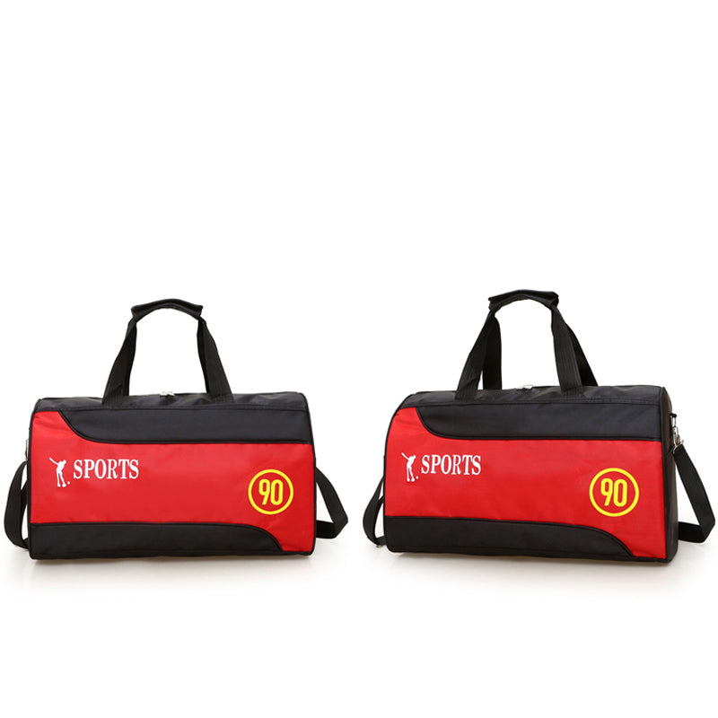 Costbuys  Nylon Basketball Training Bag Men Sports Bag Multifunctional Women Gym Bags Outdoor Portable Fitness Bags - Red