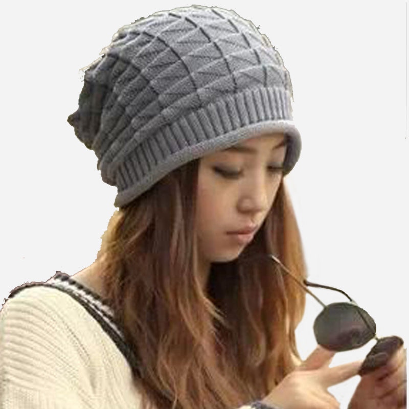 Costbuys  Women Knitted Hats Beanies Hats Girls Winter Hats For Women Warm Beanie Caps Women - Gray