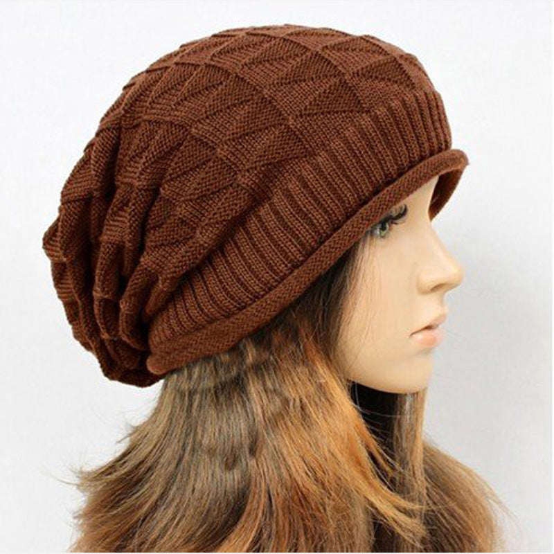 Costbuys  Women Knitted Hats Beanies Hats Girls Winter Hats For Women Warm Beanie Caps Women - Brown