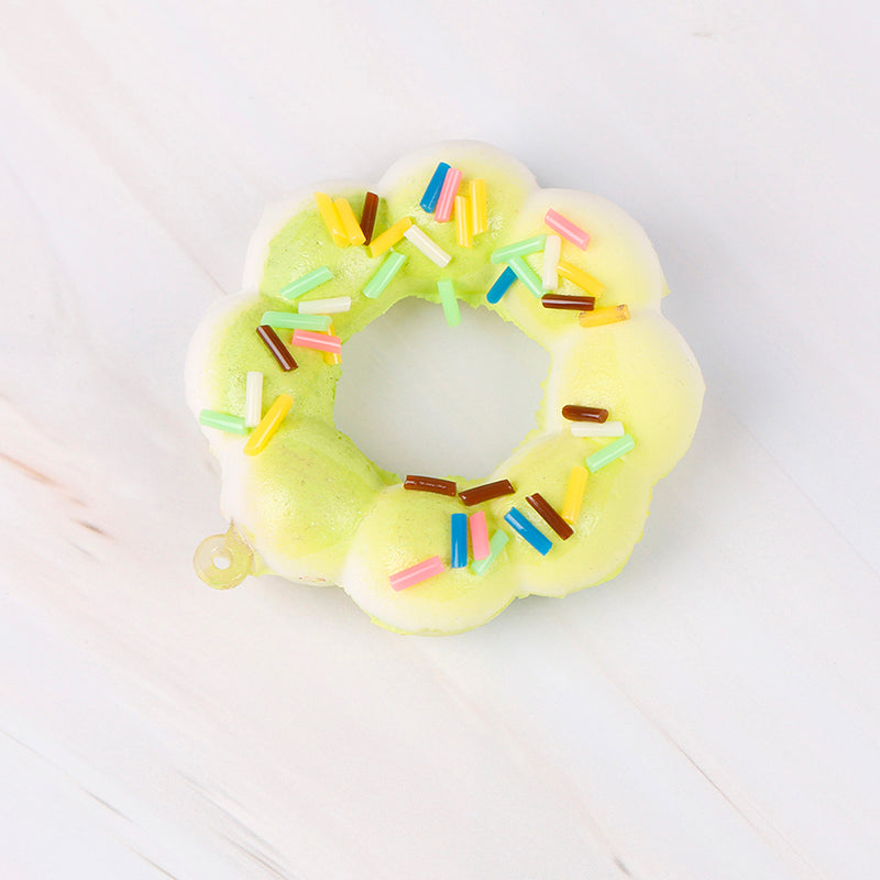 Costbuys  Novelty & Gag Toys Gadget Donut Squishe Antistress Squishy Slow Rising Stress Relief Funny Prank Toy - Green