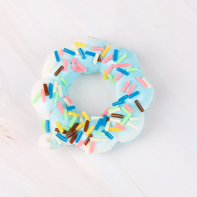 Costbuys  Novelty & Gag Toys Gadget Donut Squishe Antistress Squishy Slow Rising Stress Relief Funny Prank Toy - Blue