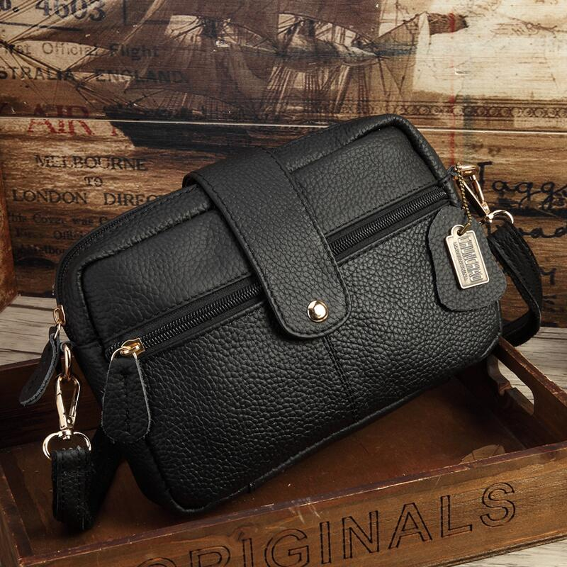 Costbuys  Hot Sale Women Messenger Bag Guaranteed 100% Genuine Leather Famous Brand Small Bags for Girls Casual Crossbody Bags B