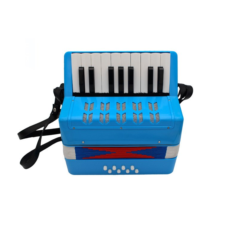 Costbuys  17 Key 8 Bass Accordion Seven Color Mini Children Accordion Educational Musical Instrument Toy For Kids Puzzle Gift -