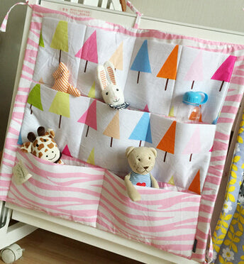Costbuys  Hot Selling Muslin Tree Baby Cot Bed Hanging Storage Bag Crib Organizer 60*55cm Toy Diaper Pocket for Crib Bedding Set