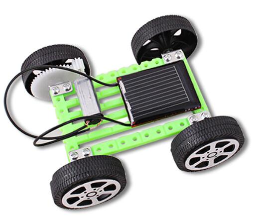 Costbuys  car kits Children DIY solar toys Car educational solar power Kits Novelty solar robots For Child birthday Gift - green