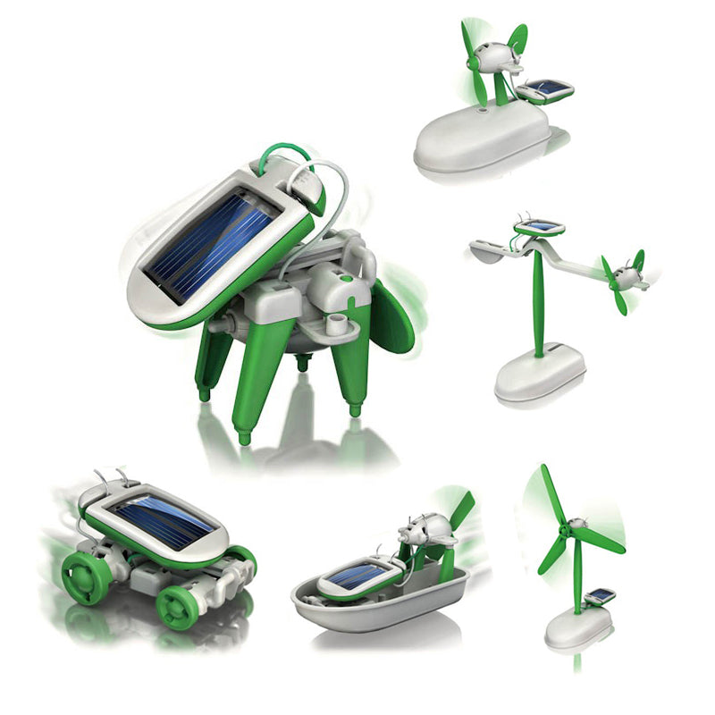 Costbuys  Robot kits Children DIY solar toys 6 in1 educational solar power Kits Novelty solar robots For Child birthday Gift - W