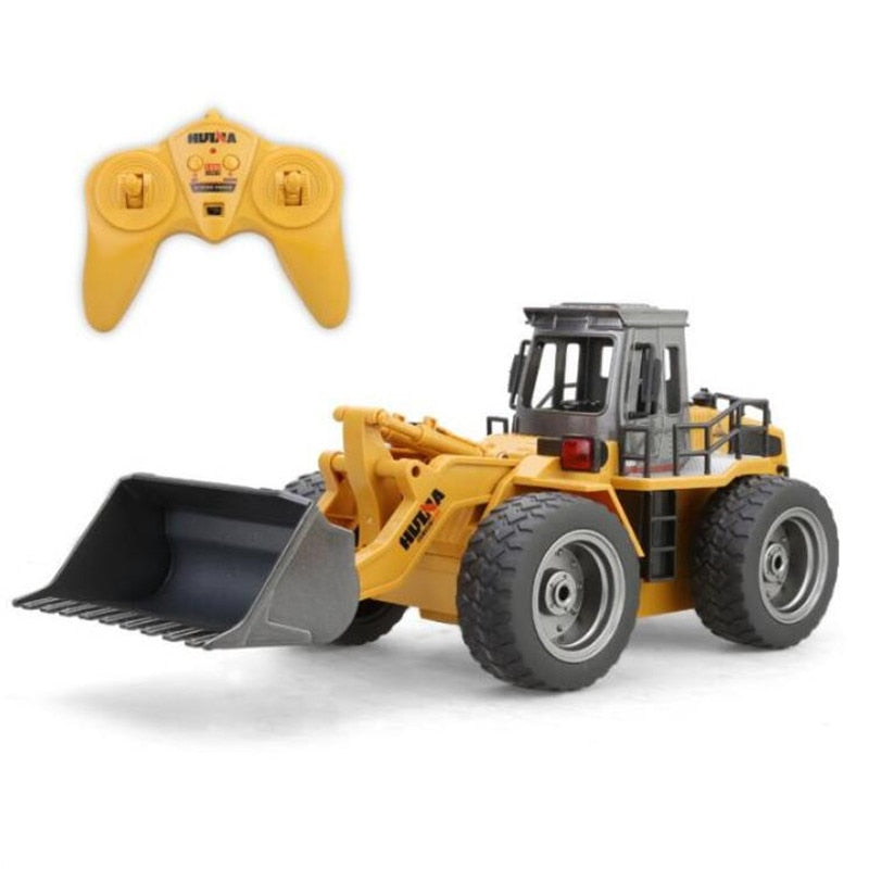Costbuys  Toys Six Channel Metal Bulldozer Charging RC Car model Christmas toys for kids gifts Remote Control Toys