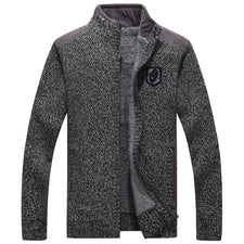 High Quality Men Sweaters With Zippers Thick Fleece Warm Black Casual  Winter Men Cardigan Wool 2018 Big Size XXXL
