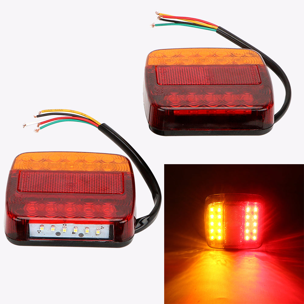 Costbuys  2pcs 12V Car Brake Tail Lamps Taillights Auto Rear Lights Car Accessories Turn Signal Lights Car-styling for Car Truck