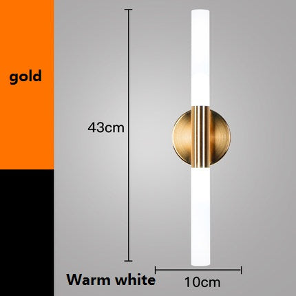 Costbuys  Simple Adjusted Modern Wall Sconces Creative Acrylic LED Wall Light Fixtures Bedside Wall Lamp Indoor Lighting - gold