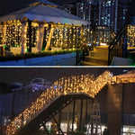 LED Curtain Droops String Light Garland for Christmas Wedding Party Home Outdoor Fairy Decoration Holiday Lighting