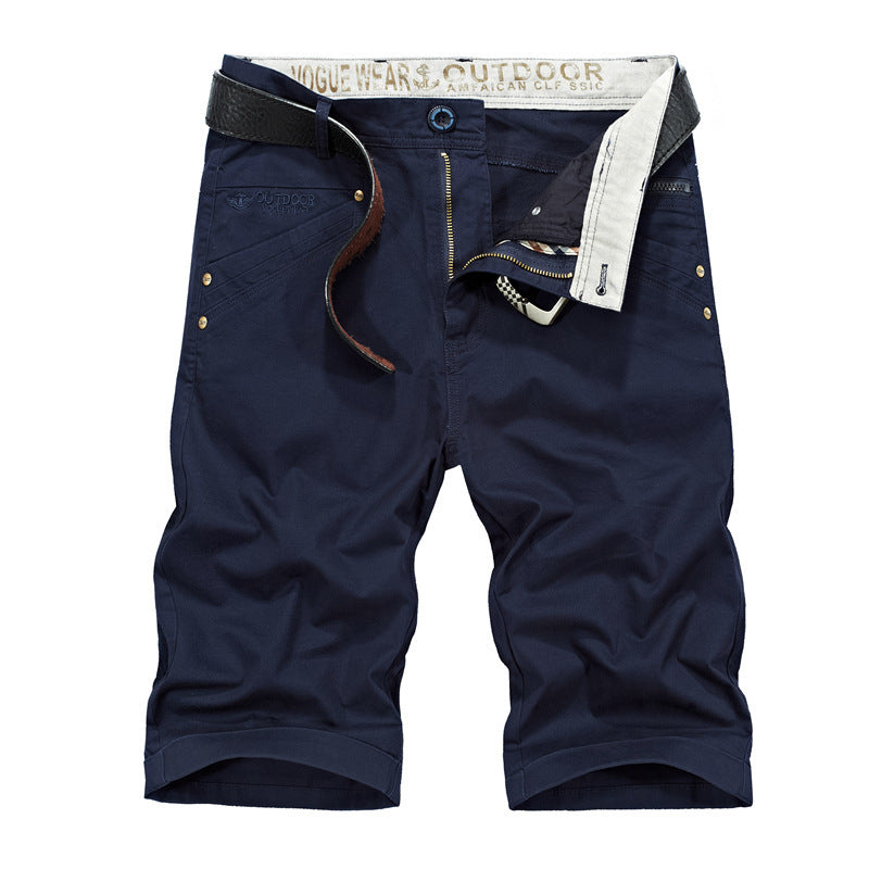 1067a944fa4 Summer Casual Shorts Men Cargo shorts straight Zipper Loose Cotton Man –  Costbuys
