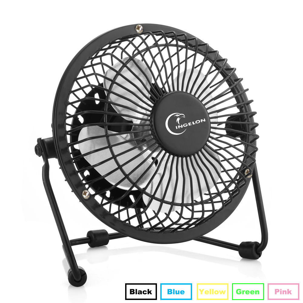 Costbuys  USB Fan Mini portable Fans Table Desk Personal Black Blue Green gadgets for Notebook Laptop usb gadget - Pink-USB-Fan