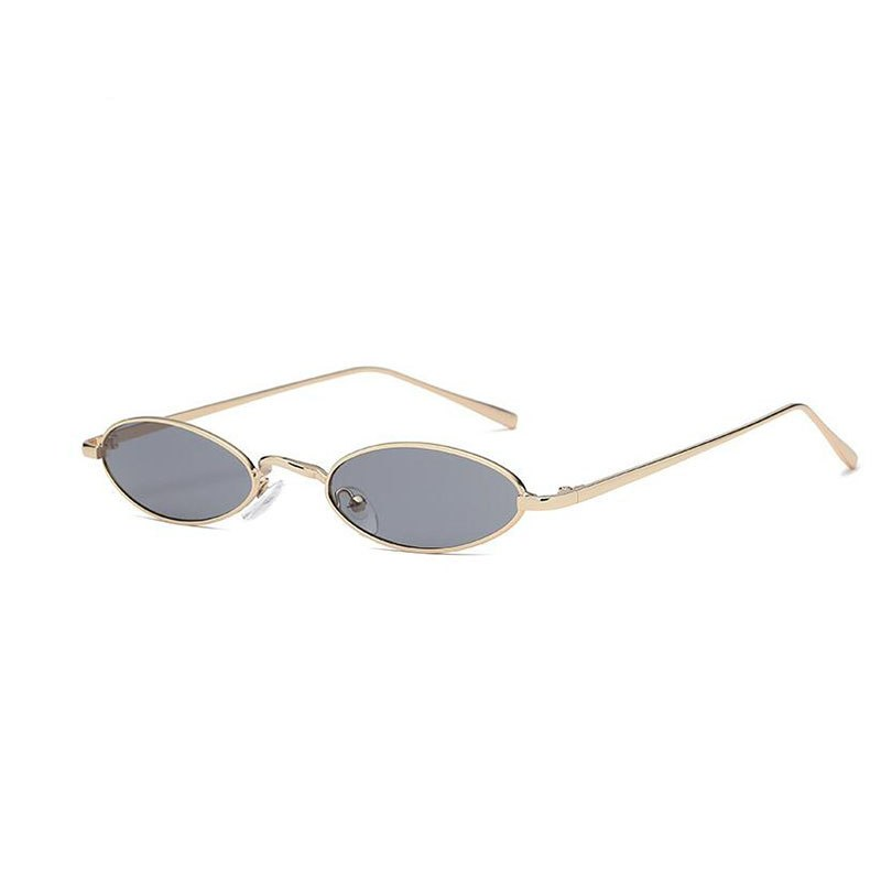 32100ce13f Small oval sunglasses for men male retro metal frame yellow red vintag –  Costbuys