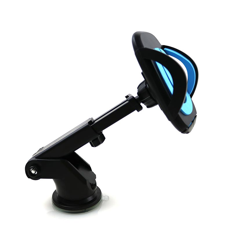 Costbuys  Car Phone Holder Gps Accessories Suction Cup Auto Dashboard Windshield Mobile Cell Phone Retractable Mount Stand - Blu