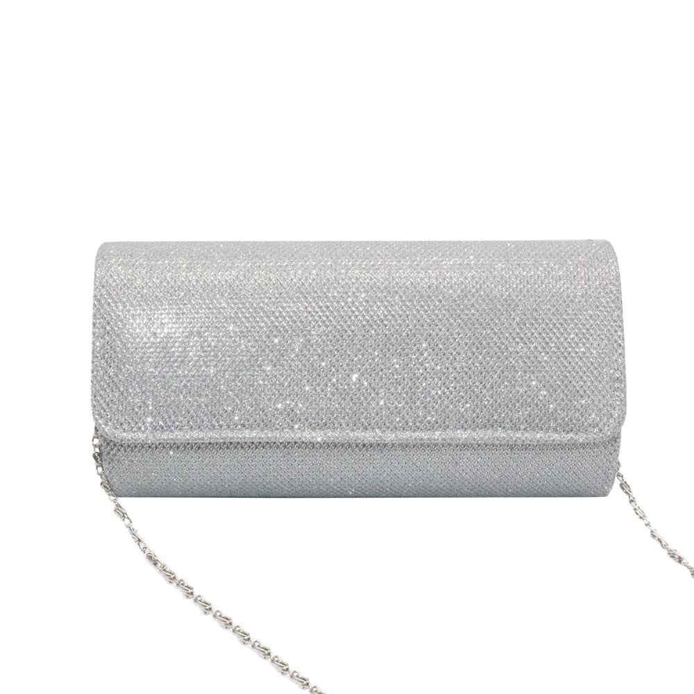 Women Satin Rhinestone Evening Clutch Bag Ladies Day Clutch Purse Chain Handbag Wedding Party Bag Shoulder Bags Bolsos