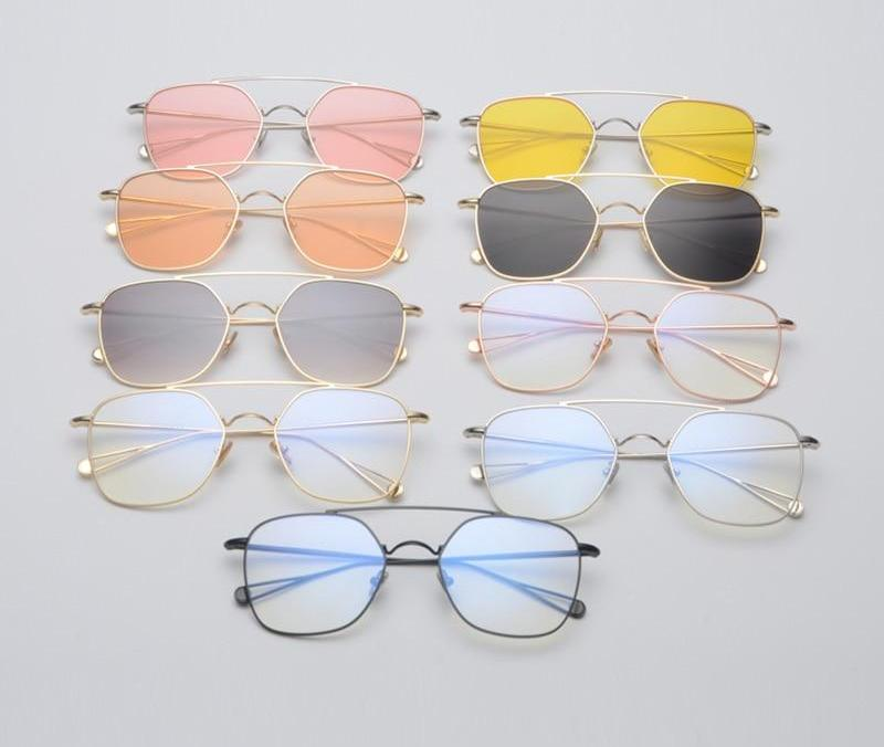 Trend Square Women Sunglasses Clear Lens Unique Design Sunglasses Women Square Pilot Glasses