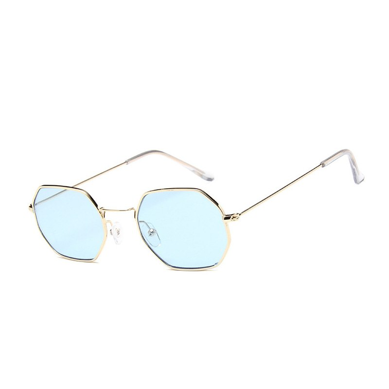 Costbuys  Women Square Sunglasses Sun Glasses Designer Design Man Sunglasses Women Fashion Trend Glasses - C1 gold blue