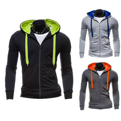 Men's Stylish Slim Fit Warm Hooded Sweatshirt Zipper Coat Jacket Outwear Fashion Men Hoodie Jacket