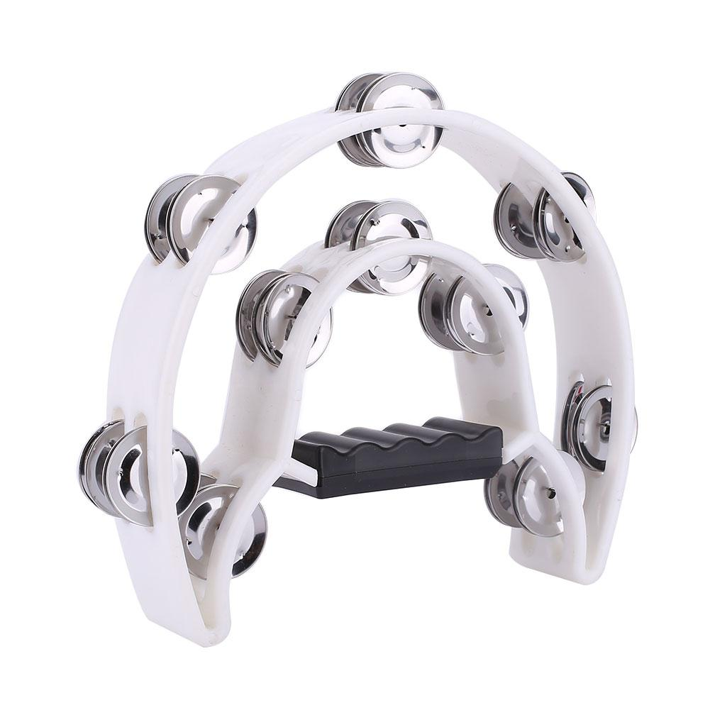 Costbuys  KVTEntertainment Percussion Instrument Flower DrumRing Musical Tambourine Double Row Party Jingles Music Instrument Ki