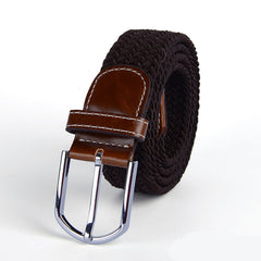 Alloy Buckle Canvas Women Belts Patchwork Decoration Adjustable Man Cummerbunds With Many Colors